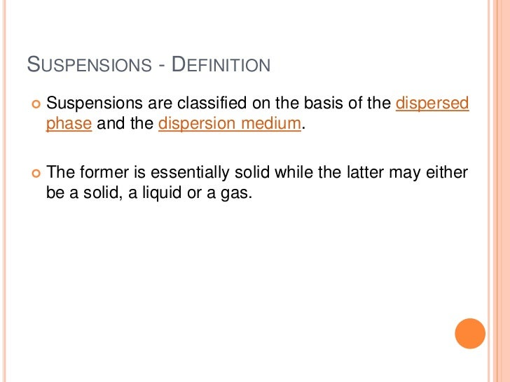 Suspension Science Example