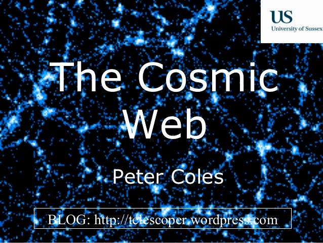 The Cosmic Web - Evening Lecture at Sussex University on 9th December 2013