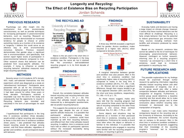 Longevity and Recycling:                                                    The Effect of Existence Bias on Recycling Part...