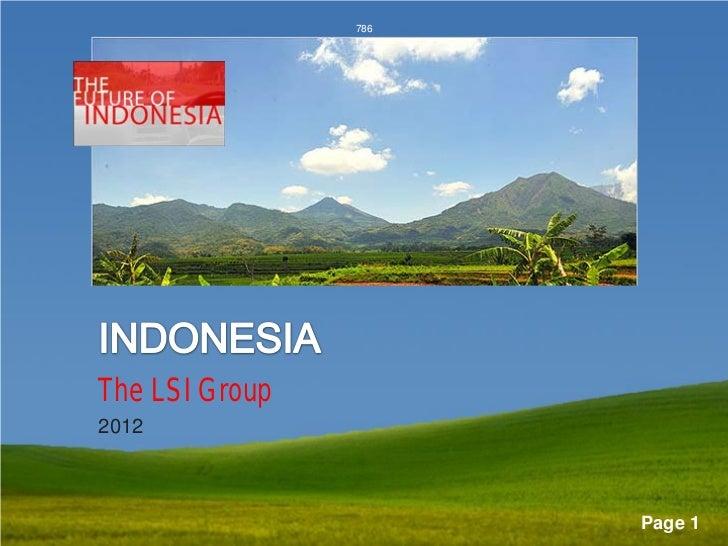 786       National Sustainability             InitiativeThe LSI Group2012                Powerpoint Templates             ...