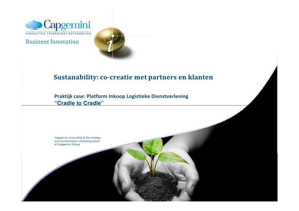 Sustainability: Co-Creation met klanten en partners