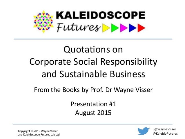 Corporate social responsibility. At a crossroads?