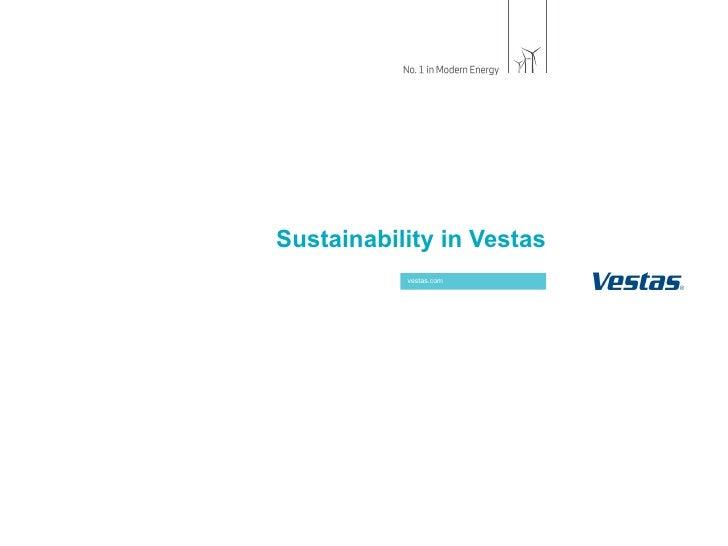 Sustainability in Vestas