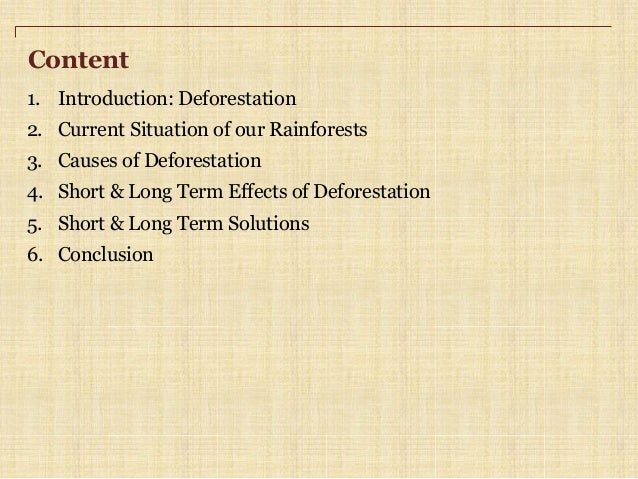 the causes of deforestation essay conclusion