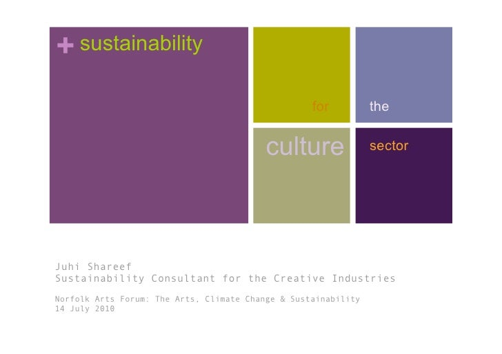 Practical Sustainability for the Culture Sector