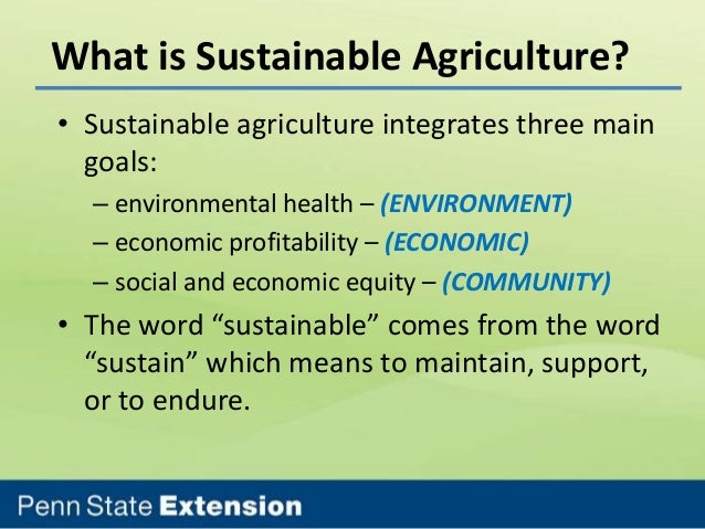 sustainable agriculture 5 essay Most working papers are eventually published in of sustainable agriculture: a scoping analysis working paper, installment 6 of creating a sustainable food future which agriculture is moving on a sustainable trajectory.
