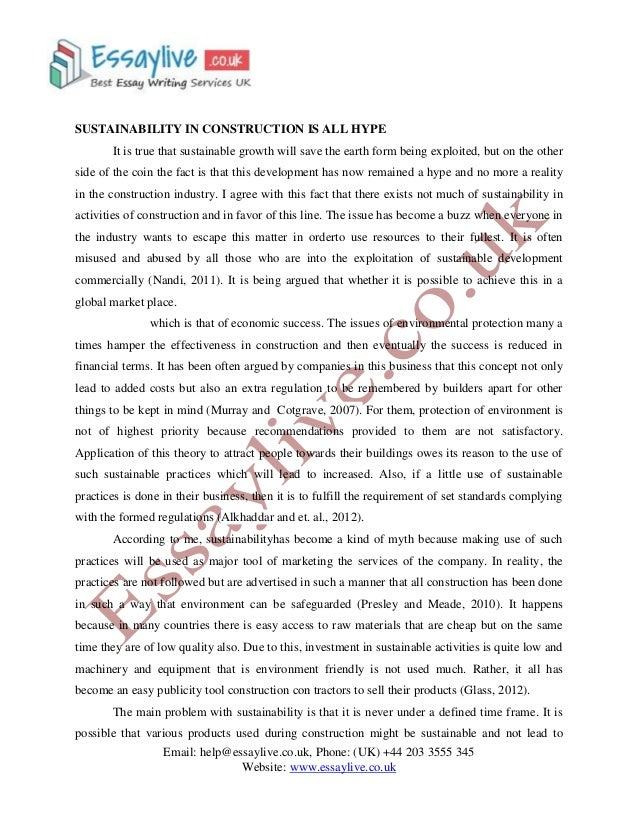Essays On Sustainability Coursework Sample   Words  Essays On Sustainability General Paper Essay also Sample High School Essay  Essay On Healthy Eating