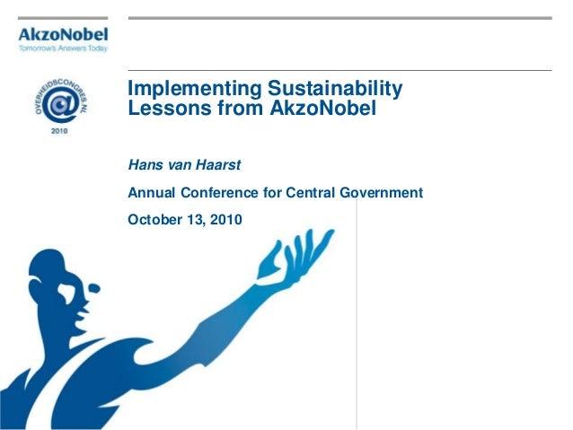 Sustainability lessons - hans van haarst