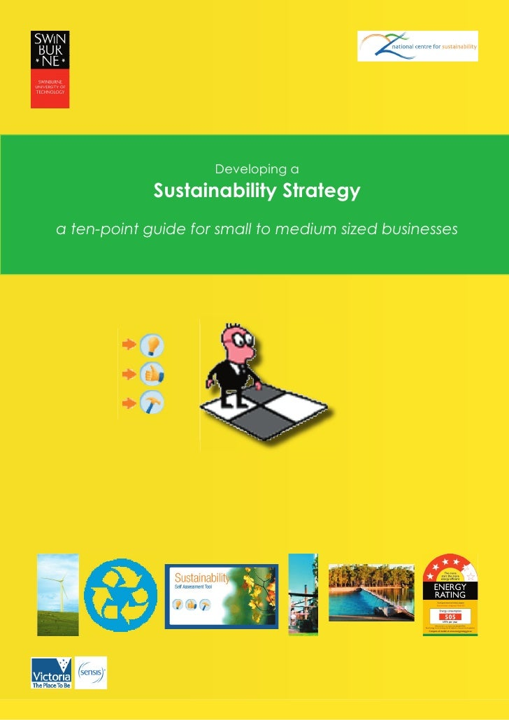 Developing a              Sustainability Strategy a ten-point guide for small to medium sized businesses