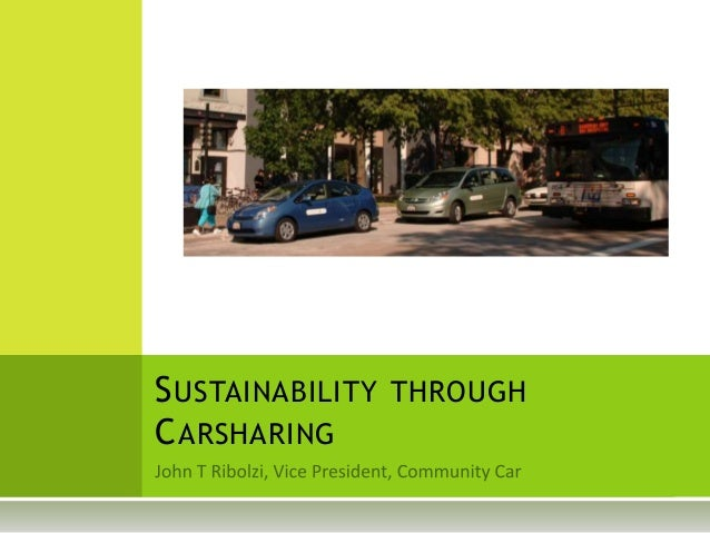 SUSTAINABILITY THROUGH CARSHARING