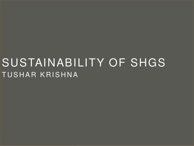 Sustainability of SHGs