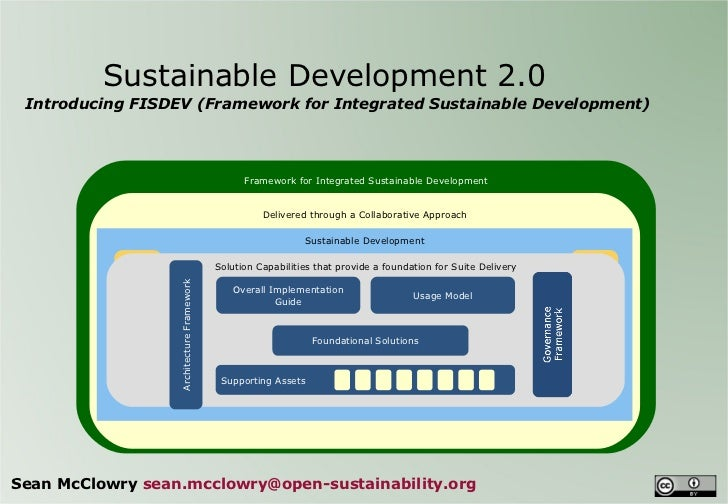 Sustainable Development 2.0  Introducing FISDEV (Framework for Integrated Sustainable Development) Sean McClowry  [email...