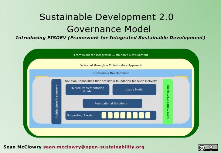 Sustainable Development 2.0   Governance Model Introducing FISDEV (Framework for Integrated Sustainable Development) Sea...
