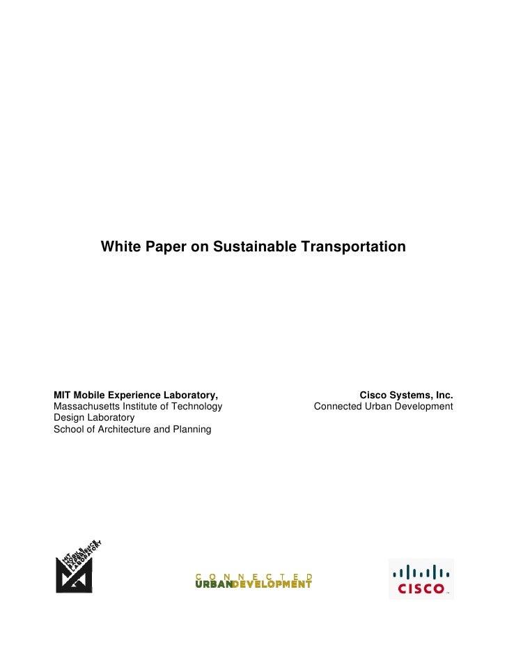 Sustainable Transportation Whitepaper
