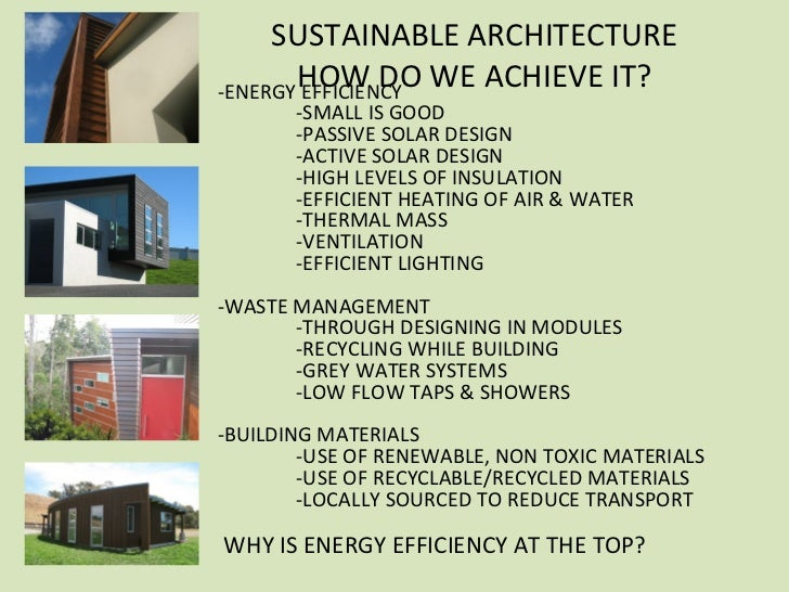 Sustainable House Design Features