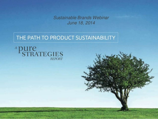 Sustainable Brands Webinar June 18, 2014
