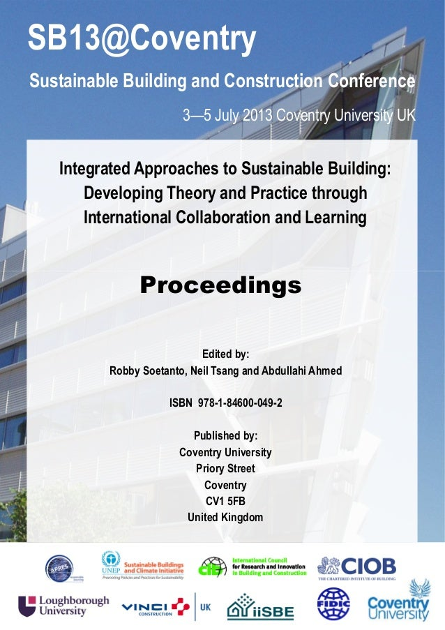Sustainable building and construction conference