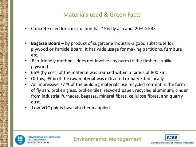 Materials Used Green Facts