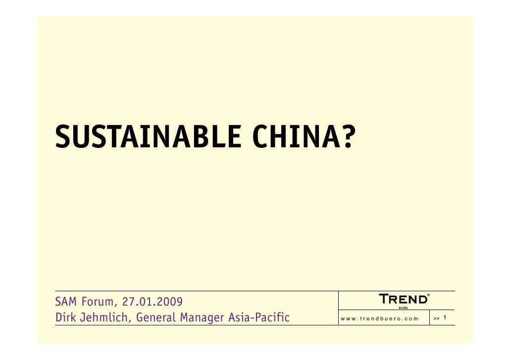 Sustainable China?