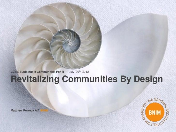Sustainable communities  - Porrecca