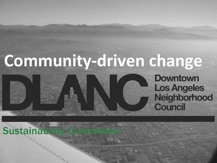 Community-driven change