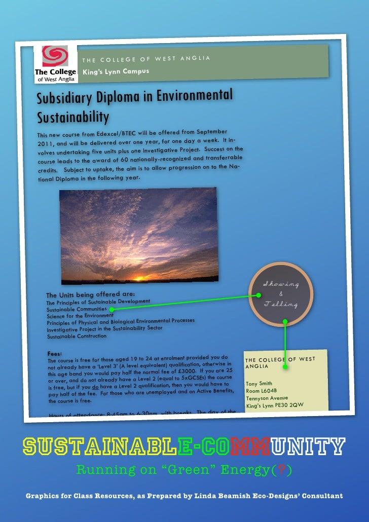 Sustainable community (subsidiary diploma) pdf
