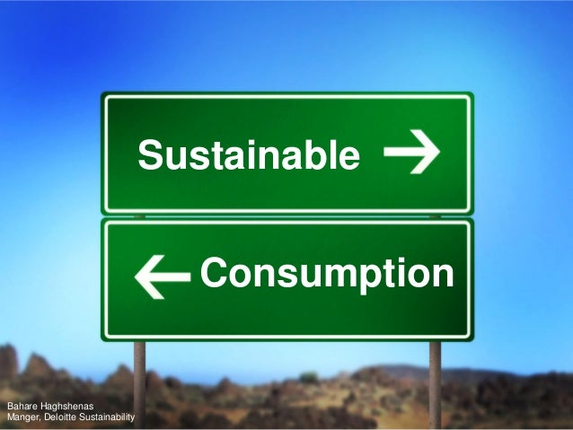 Sustainable Consumption_Deloitte Sustainability