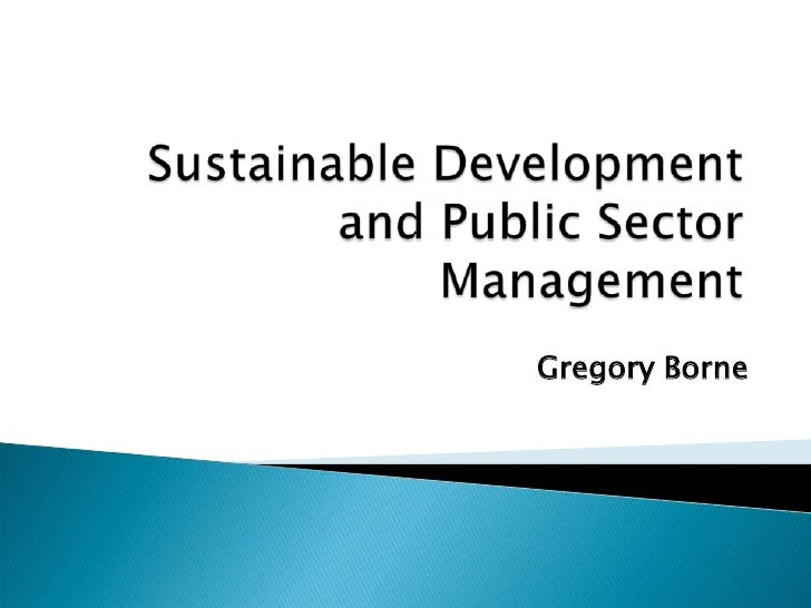 Sustainable development and public policy