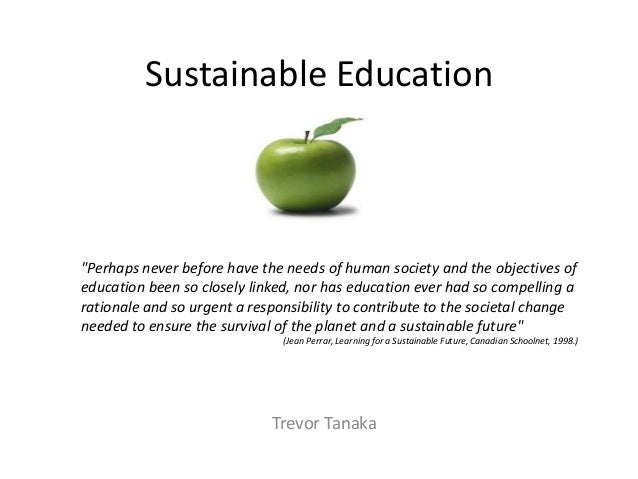 Sustainable education trevor
