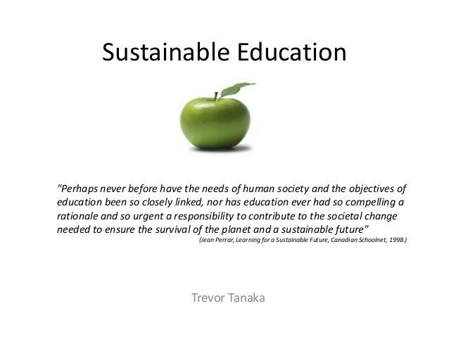 Sustainable education trevor