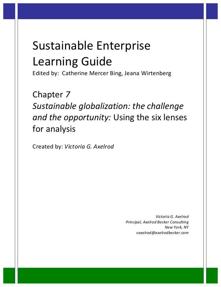 Sustainable enterprise learning guide sample