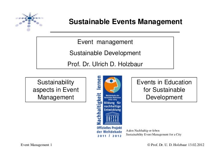 Sustainable Events Management                        Event management                     Sustainable Development         ...