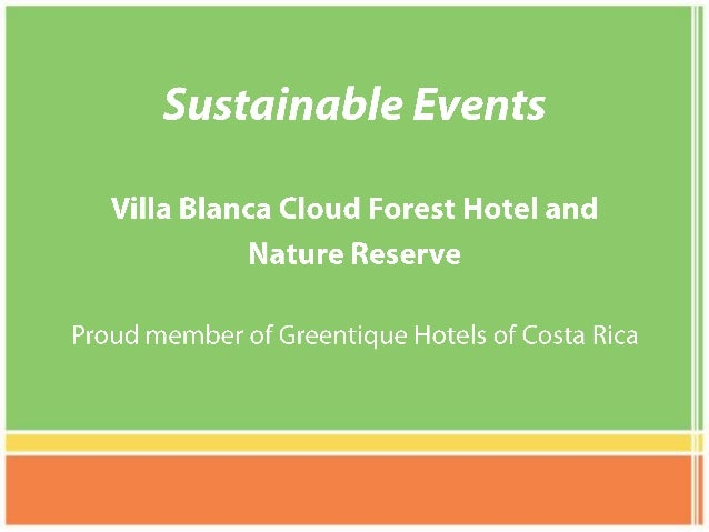 Sustainable Events at Villa Blanca Hotel