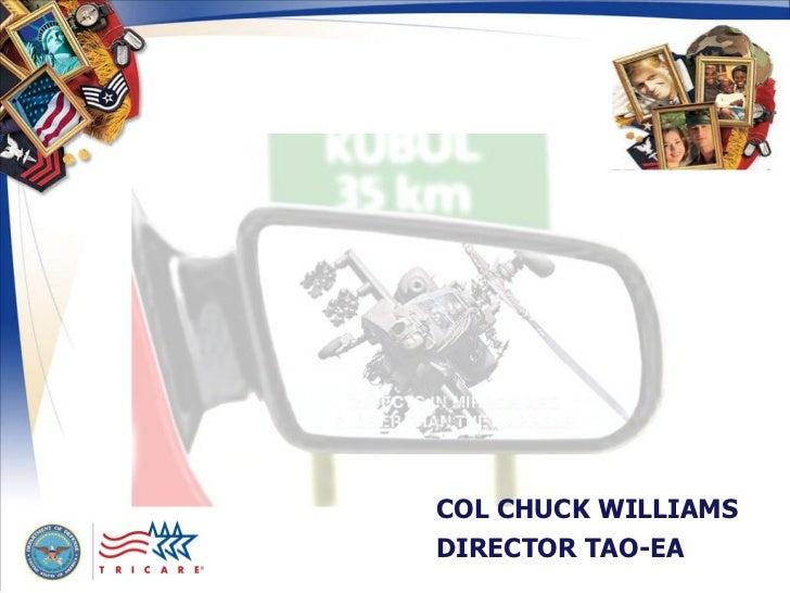 COL CHUCK WILLIAMS DIRECTOR TAO-EA