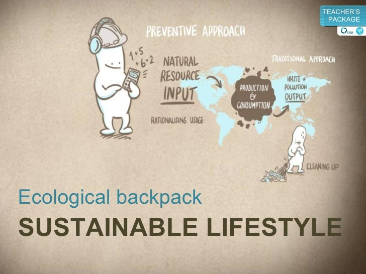 Ecological backpack SUSTAINABLE LIFESTYLE v TEACHER'S PACKAGE