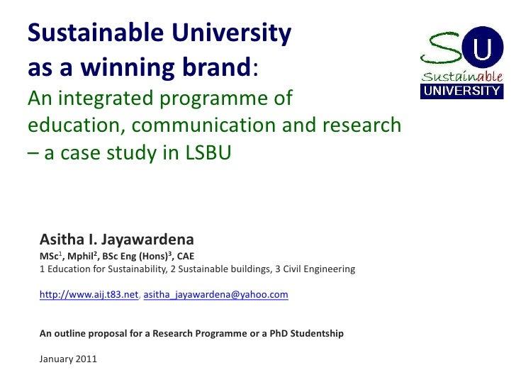 Sustainable University (with LSBU as the case) slideshow