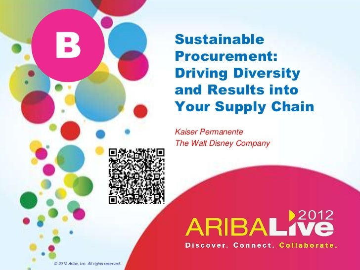 Sustainable Procurement: Driving Diversity and Results into Your Supply Chain