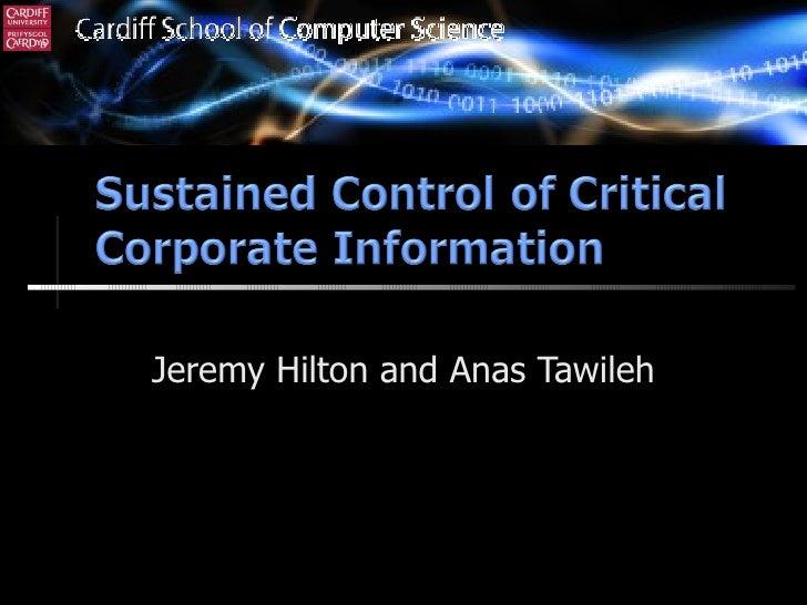 Jeremy Hilton and Anas Tawileh (C) Cardiff University