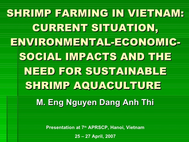 SHRIMP FARMING IN VIETNAM: CURRENT SITUATION, ENVIRONMENTAL-ECONOMIC-SOCIAL IMPACTS AND THE NEED FOR SUSTAINABLE SHRIMP AQ...