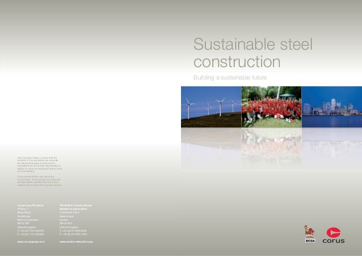 Sustainable steel construction