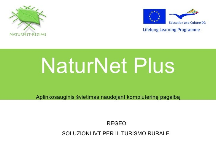 Sustainable tourism regeo_it