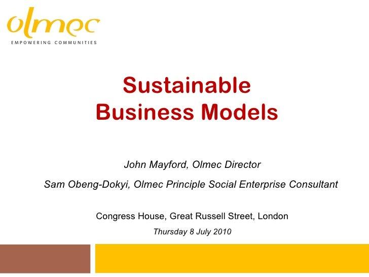 Sustainble business models