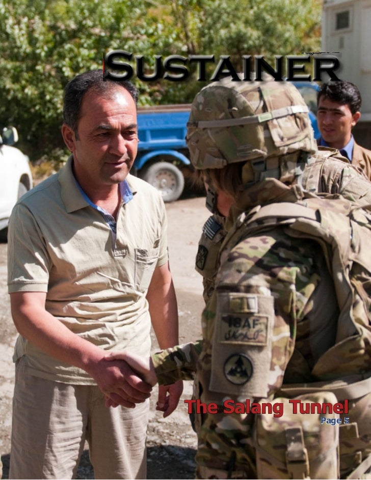 August2012  Sustainer  Published in the interest of Joint Sustainment Command - Afghanistan Soldiers and their Families   ...