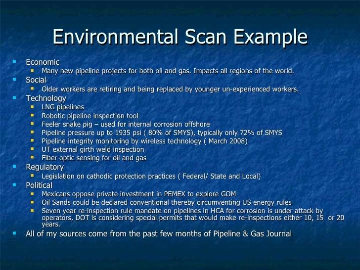 environmental scan template - sustaining customer relationships rev 1