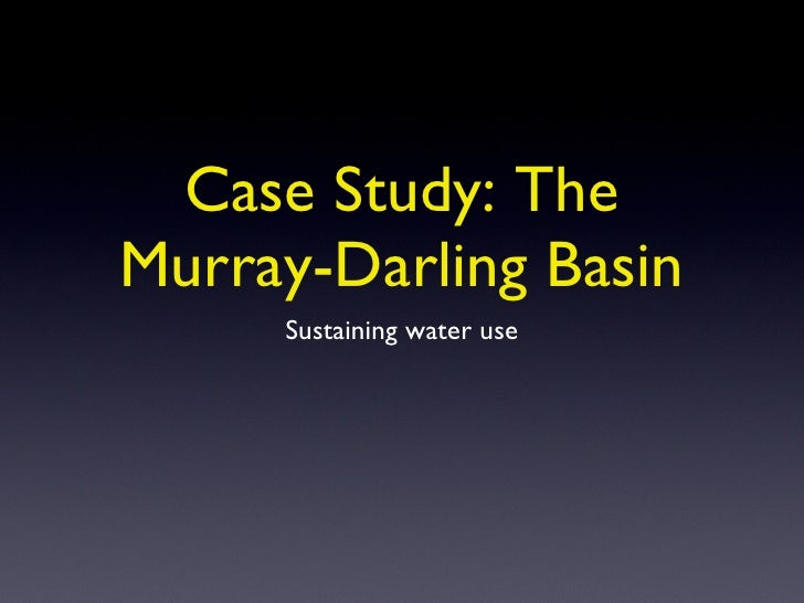 Sustaining Water Use in the Murray Darling Basin