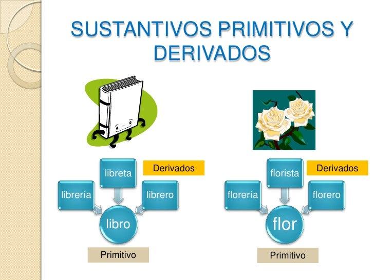 SUSTANTIVOS PRIMITIVOS Y DERIVADOS<br />Derivados<br />Derivados<br />Primitivo<br />Primitivo<br />