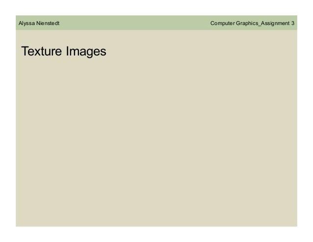 Alyssa Nienstedt  Texture Images  Computer Graphics_Assignment 3