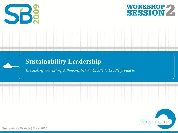 Sustainability Leadership The making, marketing & thinking behind Cradle to Cradle products