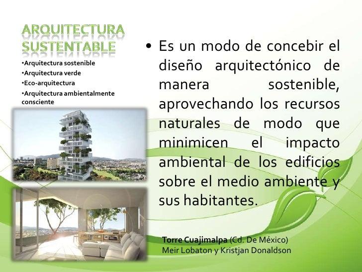 sustentabilidad y arquitectura sustentable