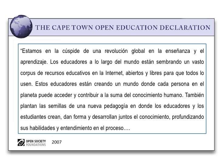 """""""Estamos en la cúspide de una revolución global en la enseñanza y elaprendizaje. Los educadores a lo largo del mundo están..."""